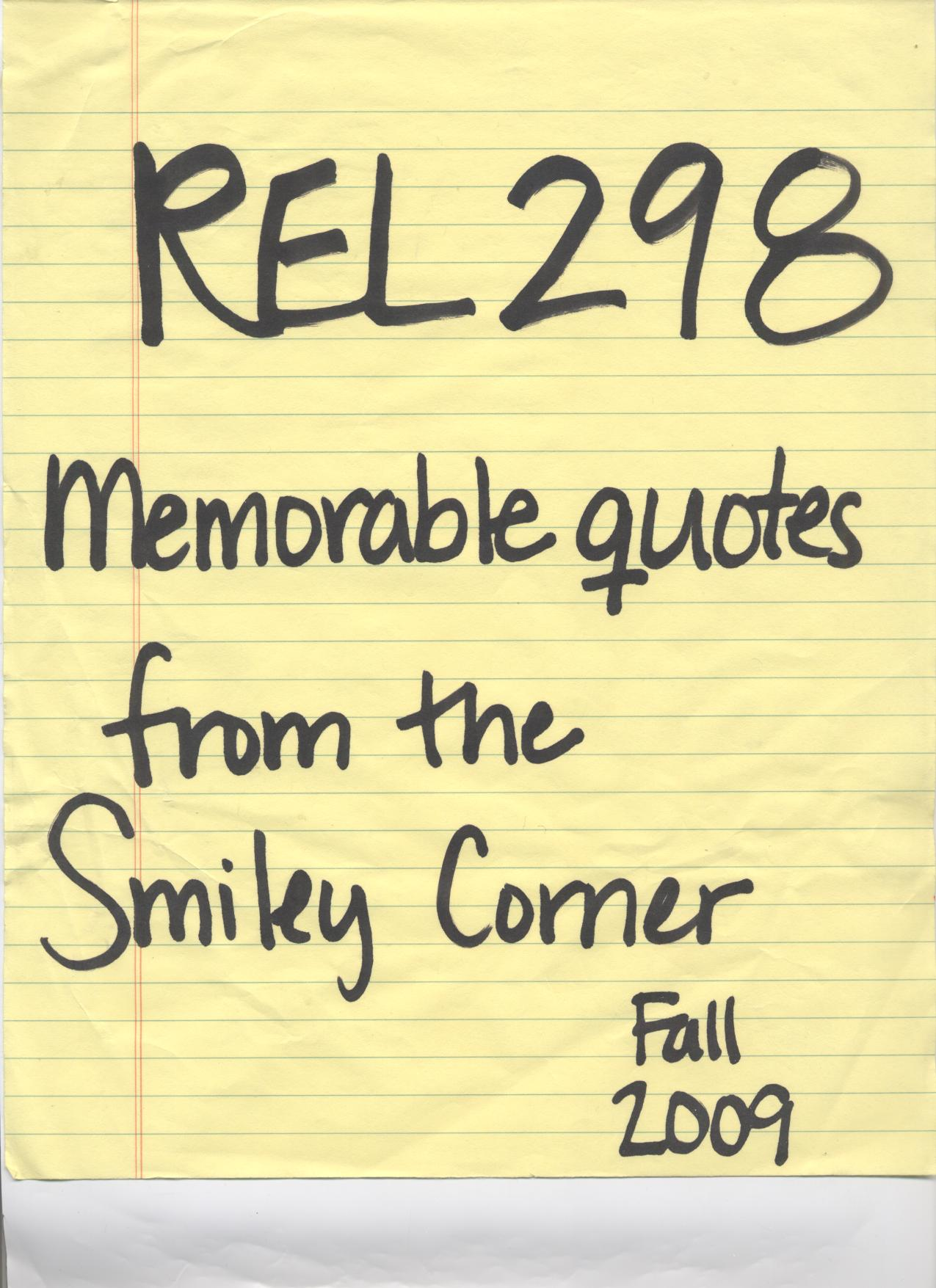 Memorable Quotes Memorable Quotes From The Smiley Corner
